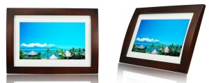 """10"""" PHOTO FRAME MULTIMEDIA WOOD FRAME WITH REMOTE"""
