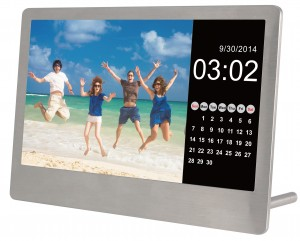 """7"""" DIGITAL PHOTO FRAME- STAINLESS STEEL ULTRA THIN"""