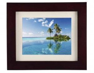 """8"""" DIGITAL PHOTO FRAME THIN WOOD WITH REMOTE"""